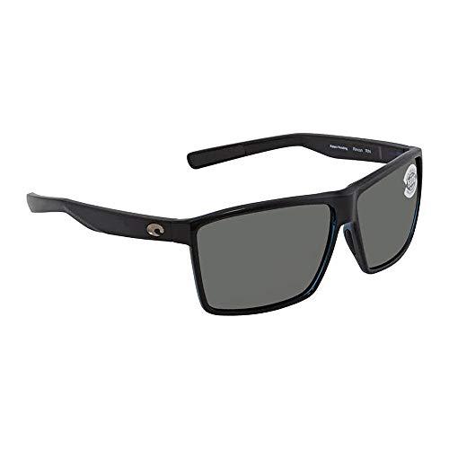 Costa Del Mar Costa Del Mar RIN11OGGLP Rincon Gray 580G Shiny Black Frame Rincon, Shiny Black Frame, One Size, Gray 580G