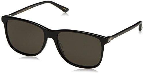 Gucci Men's GG0017S GG/0017/S 001 Black/Silver Polarized Fashion Sunglasses - Gucci Polarized Sunglasses