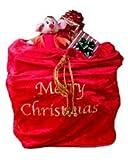 ARAD Large Velvet Embroidered Merry Christmas Santa