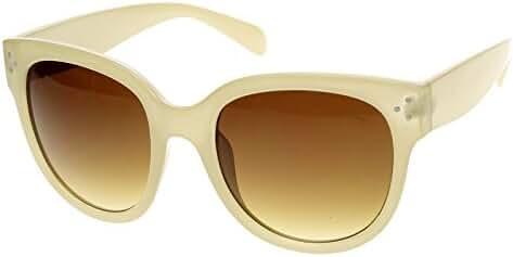 zeroUV - Womens Large Oversized Fashion Horn Rimmed Sunglasses