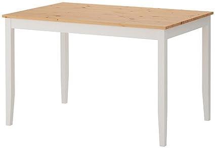 Ikea LERHAMN - Mesa, mancha antigua luz, mancha blanca ...