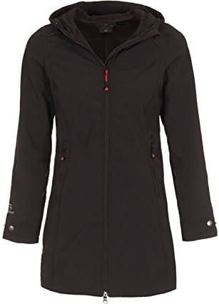 Bergson Damen Softshellmantel VINCA, Black [900], 48 Damen