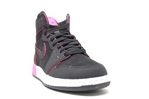 Jordan Retro 1 High Black/Black-Hyper Pink-White (Big Kid) Black/Black-hyper Pink-white