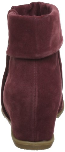 Bf338 Women's Boot Ankle Wine Script Pu Boots Blowfish Rot Wedge Red Fawn wHx6WC