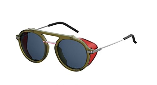 New Fendi FF M 0012/S Fantastic 1ED/KU olive green red/blue Sunglasses