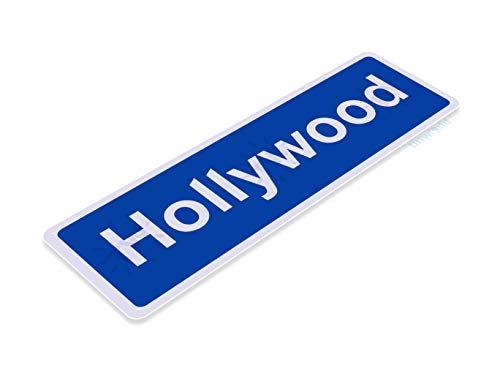 Tinworld Tin Sign Hollywood BLVD Street Metal Sign Decor Los Angeles La California ()