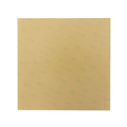 Wisamic PEI Sheet 254mm x 224mm with 3M Adhesive Tape Pre-applied for PRUSA I3 MK2s, Ultem 1000, Thickness 0.25mm - Amber by WISAMIC