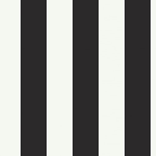 isney Kids DK5994 Silk Stripe Wallpaper, Black/White (Traditional Stripe Wallpaper)