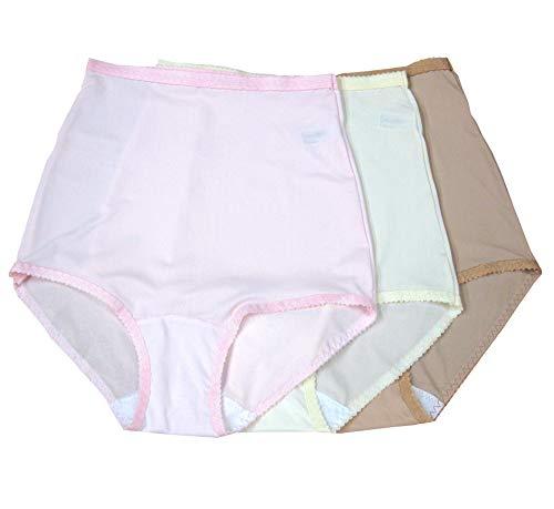 Shadowline Nylon Spandex Briefs, Panties, Style 17005 (Pkg of 3), PK_IV_NU, Large (Womens Nylon Spandex Panties)