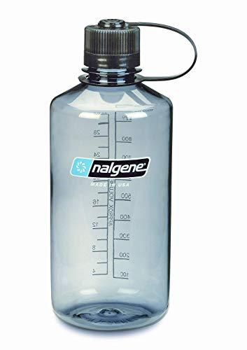 (NALGENE 2078-2030 Tritan 1-Pint Narrow Mouth BPA-Free Water Bottle,Gray,1 Pint)