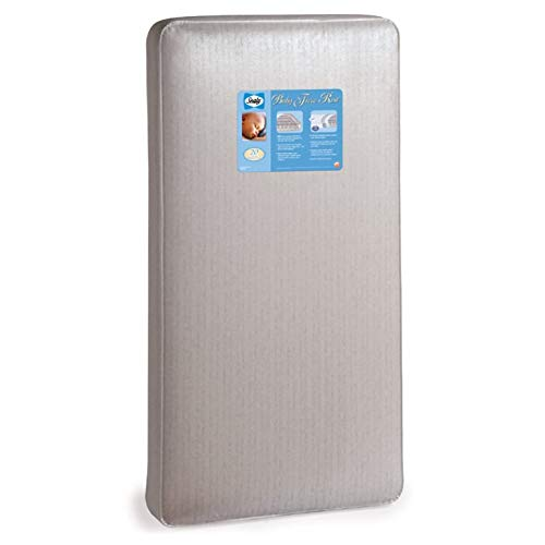 """Sealy Baby Firm Rest Waterproof Standard Toddler & Baby Crib Mattress - 204 Premium Coils, Luxury Design Pattern May Vary, 51.7"""" x 27.3"""""""