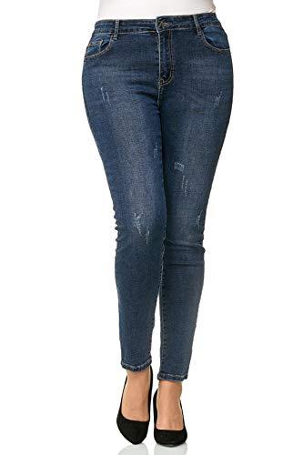 Femmes Taille Inconnu Pantalon Jeans Bleu pour D2479 Grande E11qPgAnW