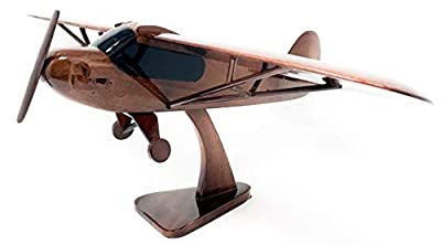 Piper Cub Replica Airplane Model Hand Crafted with Real Mahogany Wood