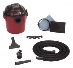 Bulldog 4Gal 2.0Hp W/D Red Utility Vac-2Pack
