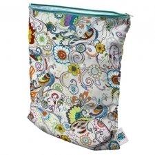 Planet Wise Wet Diaper Bag, Peacock Plumage, Medium (Peacock Baby)