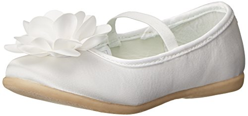 carter's Vickie Flower Toe Cap Ballet Flat , Ivory, 10 M US