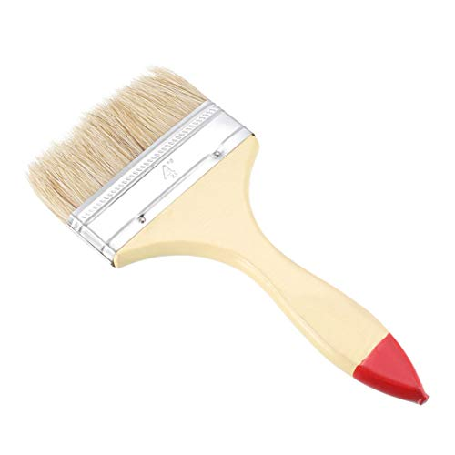uxcell 4 Inch Chip Paint Brush Synthetic Bristle with Wood Handle for Wall Treatment