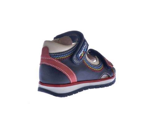 Sandalias Deportivas para Niños, Todo Piel mod.447. Calzado Infantil Made in Spain, Garantia de Calidad. (27, Rojo) Azul Marino