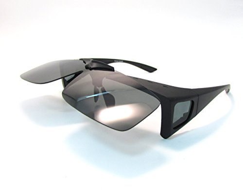 Black Fit Over Sunglasses Wear over Prescription Eyeglasses Medium Size for Men and - Blinders Side Glasses For