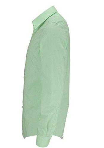 REDMOND 4 limited Herren Businesshemd 100% Baumwolle - Slim Fit mint 35/36
