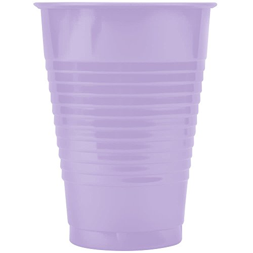 28193071 12 oz. Luscious Lavender Purple Plastic Cup - 20/Pack By TableTop King