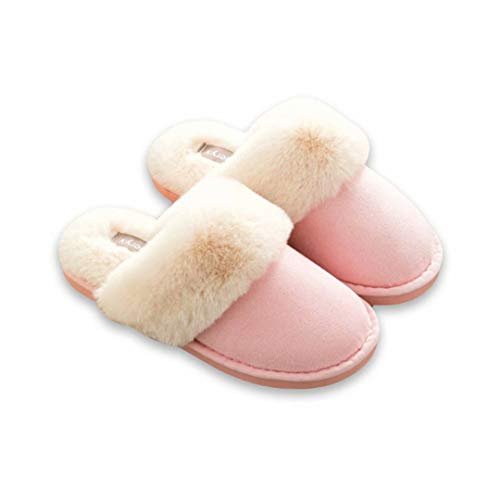 Shoes House Moodeng Pink Indoor Real Scuff on Slippers Lining Fur amp; Clog Slip Outdoor ZZxqBzrw8