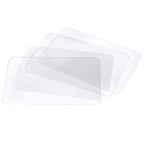 BESSEEK Translucent Placemat Washable Table Mats for Dining Table Heat Resistant Non-Slip Kitchen Table Mats Dining (4pcs)