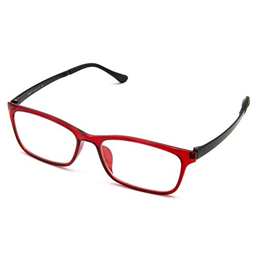 Cyxus Blue Light Blocking [Lightweight TR90] Glasses for Anti Eye Strain Headache Computer Use Eyewear, Men/Women (8070T91,Red wine)