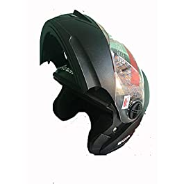 Full Face Helmet Glossy Finish Visor (Black)