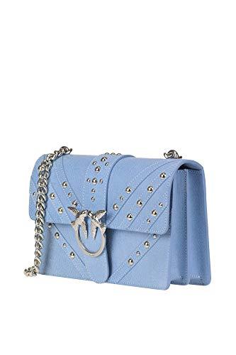 Bolso Yuqpxwfazn Mujer Pinko Azul Claro Cuero Ezgl016218 Hombro De 0w8qPw