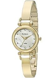 Armitron Women's 75/5269MPGP Swarovski Crystal Accented Gold-Tone Bangle Watch
