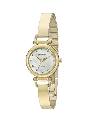 Armitron Women's 75/5269MPGP Swarovski Crystal Accented Gold-Tone Bangle Watch