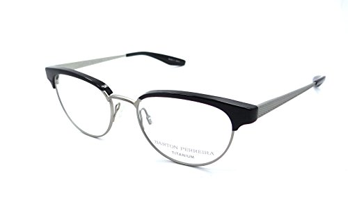 Barton Perreira RX Eyeglasses Frames Filly 49x17 Black / Brushed Silver - Barton Perreira Titanium