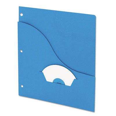 Essentials Slash Pocket Project Folders, 3 Holes, Letter, Blue, 25/Pack, Total 10 PK