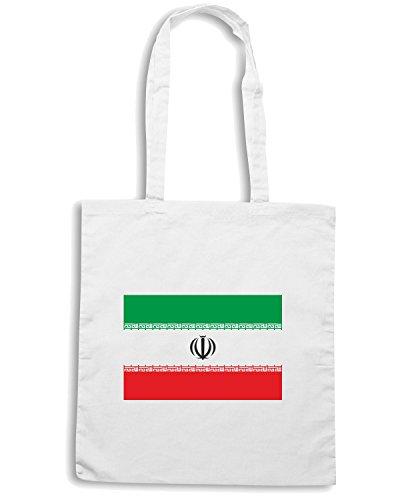 T-Shirtshock - Bolsa para la compra TM0197 Iran Flag flag Blanco