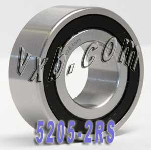 5205-2RS Angular Contact Sealed Bearing 25x52x20.6 Ball Bearings VXB Brand by VXB
