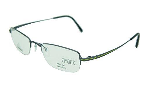 ADIDAS Eyeglasses Frame For Prescription AF01 AF02 AF03 AF07 AF14 AF17 (AF01-6050 Gunmeta Yellow 50mm-19mm-135mm, one - Adidas Prescription Sunglasses