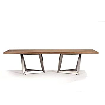 Pied De Table Inox.Mathi Design Table Repas Origami Bois Pieds En Inox Amazon