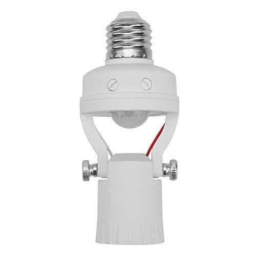 (JULUJ E27 Infrared Motion Sensor Base LED Light Holder Socket Bulb Adapter Lamp Switch Flexible Extended Lights Stand Converter)