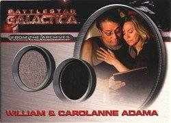 [Battlestar Galactica Season 4 DC6 Carolanne and William Adama Costume Card] (Galactica Costumes)