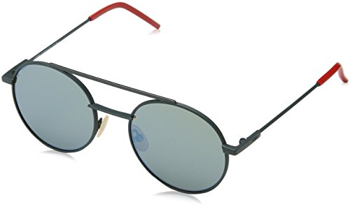 (Sunglasses Fendi 221 /S 01ED Green / 3U khaki mirror blue lens)