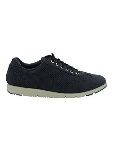 Donna Scarpe Nabuk Pelle Fx Sneakers 51e7 Lacci Navy Blu Forato Frau w1IqXv