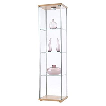 ikea detolf glass display cabinet birch effect - Ikea Glass Display Case