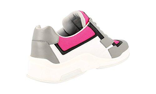... Prada Kvinners 3e5964 Skinn Sneaker ...