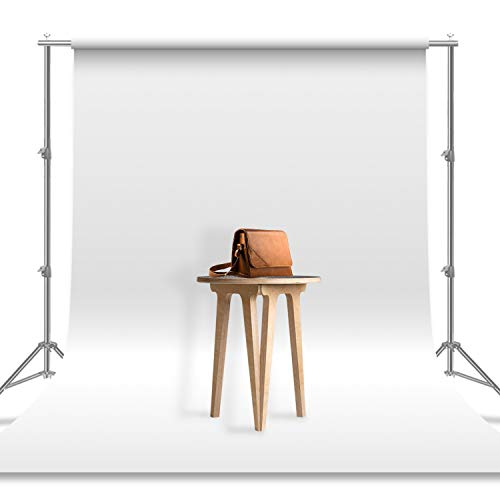 Julius Studio 6 x 9 ft. / 1.8 x 2.8 M/White Photo Video Photography Studio Fabric 100% Pure Muslin Backdrop Background Screen (Backdrop ONLY), JSAG103 (Best 6x9 Folding Camera)