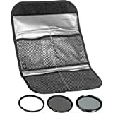 Hoya 58mm (HMC UV / Circular Polarizer / ND8) 3 Digital Filter Set with Pouch