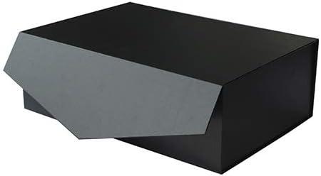 YBCPACK Caja de regalo grande negra de 35,5 x 24,1 x 11,4 cm ...