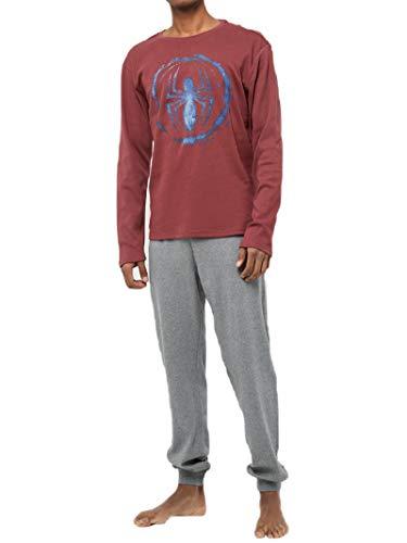 Uomo Spiderman Hasbro Rosso Pigiama Pezzi Due HpwxqCI