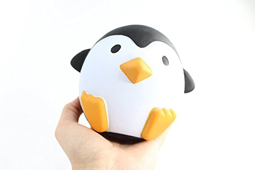 Price comparison product image White Baby Squishy Penguin | Slow Rising & Kawaii Scented |Relieves-ADHD Anxiety Animal Toy For Infants, Babies, Children Adults- Boy and Girl | 2 months-99 Years | Gift Wrapping Available