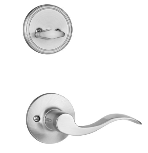 Dynasty Hardware RID-HER-100-15L Ridgecrest Front Door Handleset, Satin Nickel, With Heritage Lever, Left Hand Photo #2